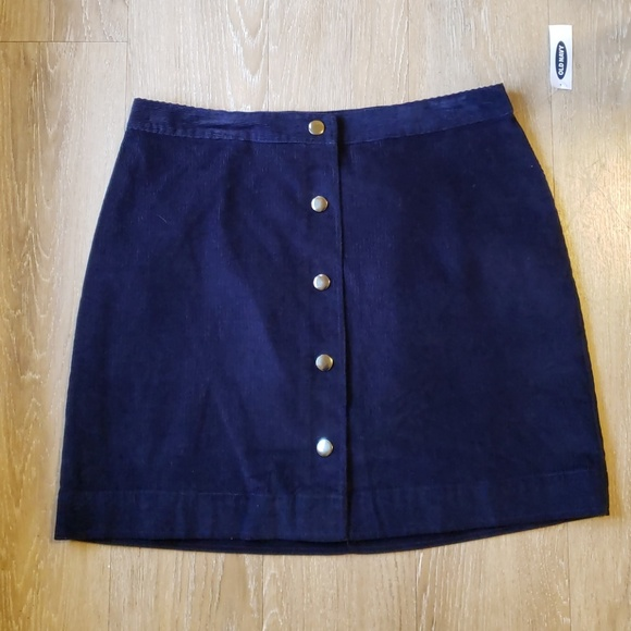 Old Navy Dresses & Skirts - Corduroy Button Up Skirt